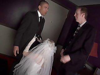 Blonde Bride Banged