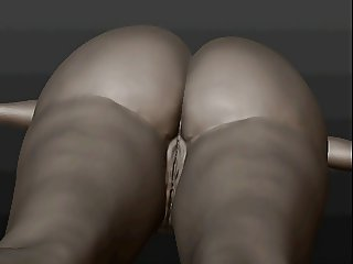 A sketch a big booty3d