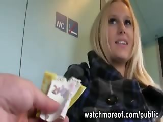 Jumbo tits student fucked inside train