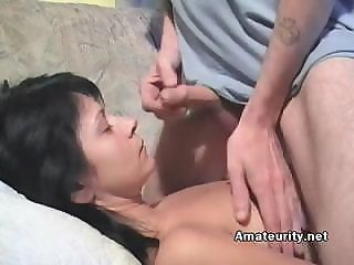 Sleepy GF Sucking Hard Cock