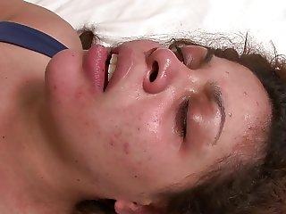 Obese woman facesitting poor girl
