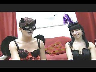 Spanish Halloween Girls in Action