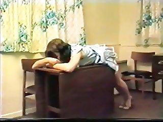 Super rare nylon panty spanking video