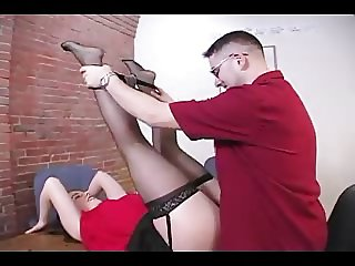 STOCKINGS SEX ON TABLE