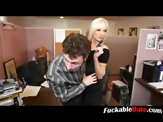 Blonde Secretary Fucked at the Office
