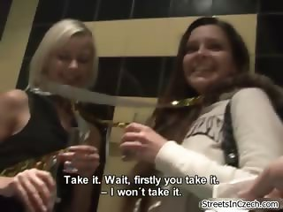 Hot blonde and brunette babes get horny part6