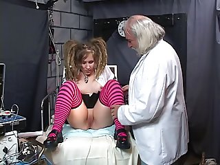 Chick with wild pigtails gets kinky sex therapy