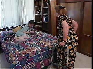 Mature brunette indulges in hot oral sex