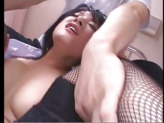 Japanese doctor nurse and patient in sex therapy