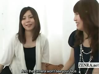 Subtitled Japanese office lady all female butt exam