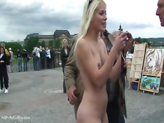 Blonde Teen Sandra Nude In Public