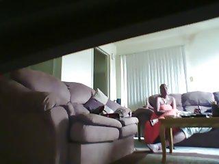 Sofa handjob