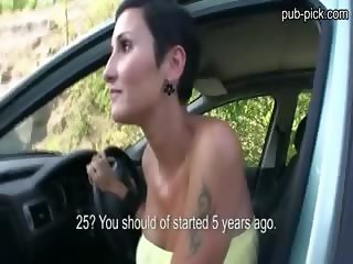 Lost huge boobs euro sweetie public fuck