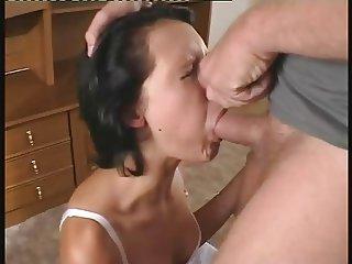 Cute Girl Gets Her Throat Stuffed
