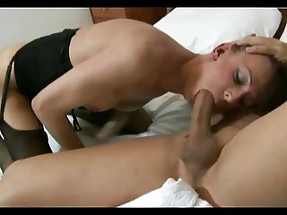 Shy TGirl Makes Love With A Muscular Guy