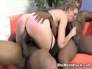 Hot MILF Jenna Covelli fucked by two studs with big black cocks