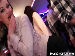 Hot drunk lesbian babes are kissing part6