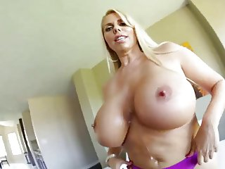 This horny MILF has some big ass tits PTD