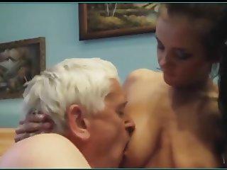 Kissing blowjob and nipple sucking