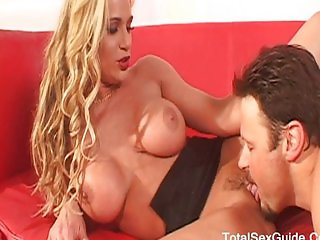 Big tits pornstar on a big cock