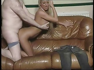 Liverpool girl strips and skullfucked by olderman