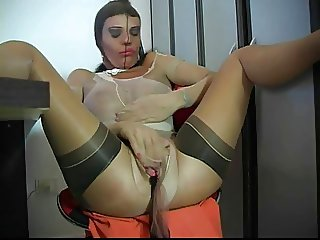 Sexy Woman Encased in Pantyhose