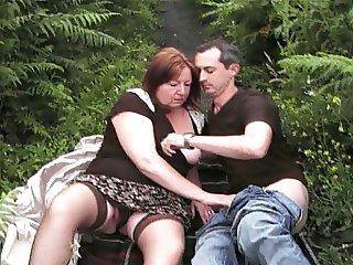 Clare loves outdoors fun the slut