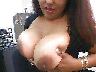 bbw Nikki Santana office