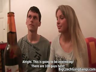 Sexy blonde babe gets horny talking part6
