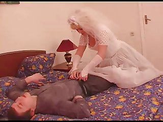 The young groom fuck his mature grown bride