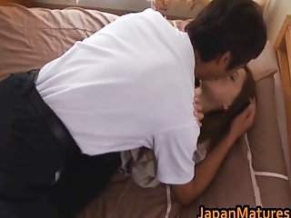Horny chick Manami Suzuki gets face