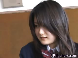 Amazing Asian schoolgirl shows off her part1