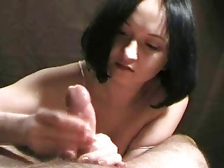 Look at my tit while i wank you