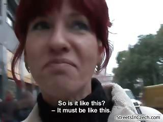 Sexy redhead slute gets horny outdoor part6
