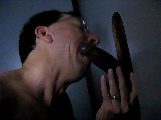 cumhole faggot at work in the gloryhole