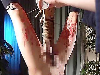 Upside down Candling Flogging of Japanese JK