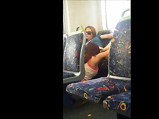 Having fun on the train