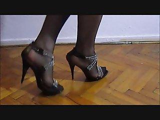 Turkish CrossDresser Buse Naz Arican My Legs in Black