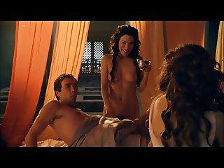 Jaime Murray Spartacus nude slo mo
