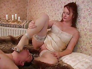 Mature Mistress FaceSitting Men 039 s Masturbation slow