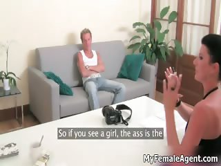 Hot blond guy is answering on naughty part6