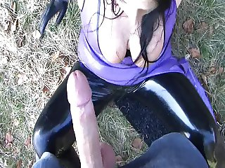 Latex Blow and Handjob