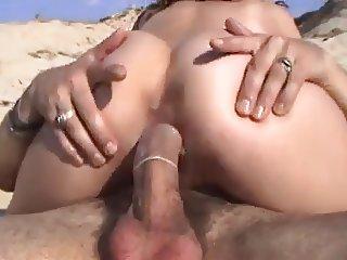 fucked hairy pussy on the beach