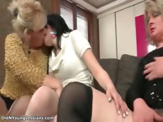 Hot blonde and brunette lesbians part6