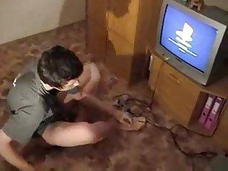 Home alone teen boy