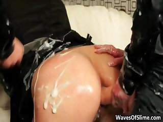 Cum loving blonde gets covered in huge part4