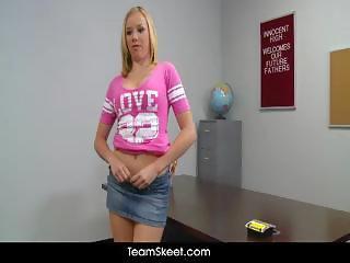 ThisGirlSucks Blonde teen Tracey Sweet blowjob handjob deepthroat cock