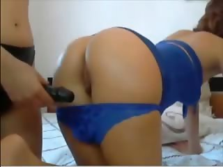 Hot sex with 2 girls and a strapon