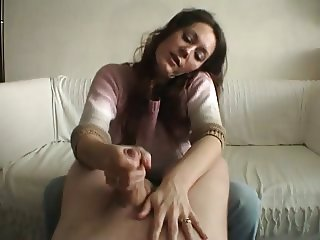 Handjob for UncutSexyClaire