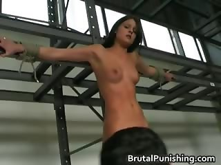 Riding the Stocks tied and Beaten part1